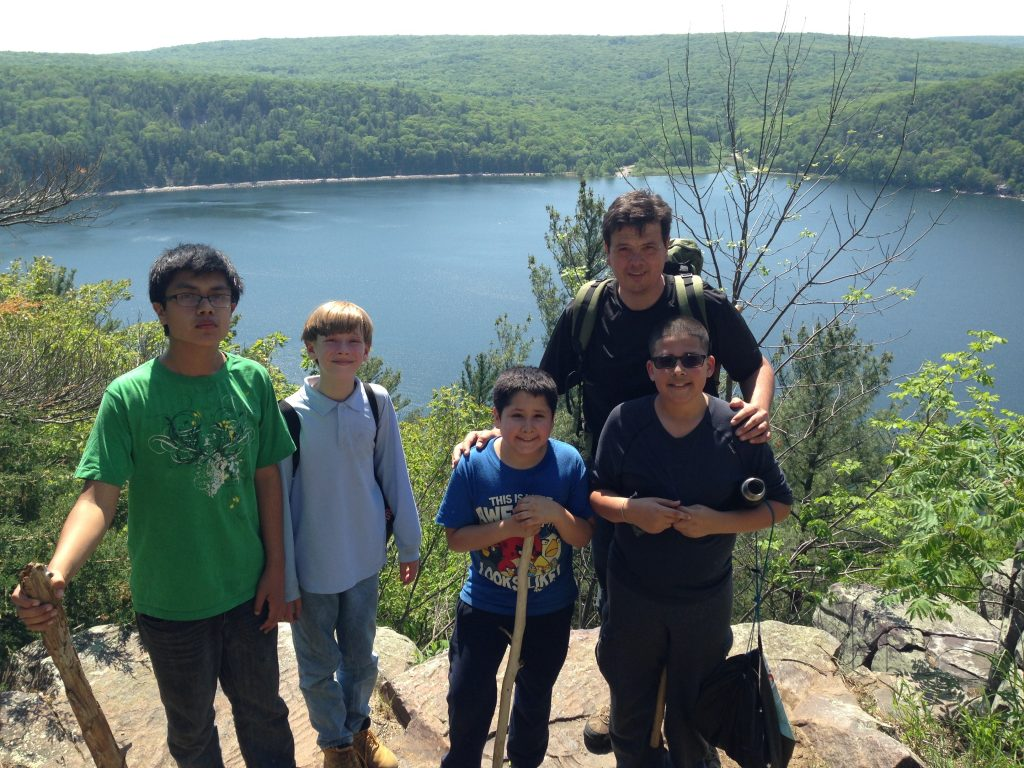 Group outing at Devil's Lake state park
