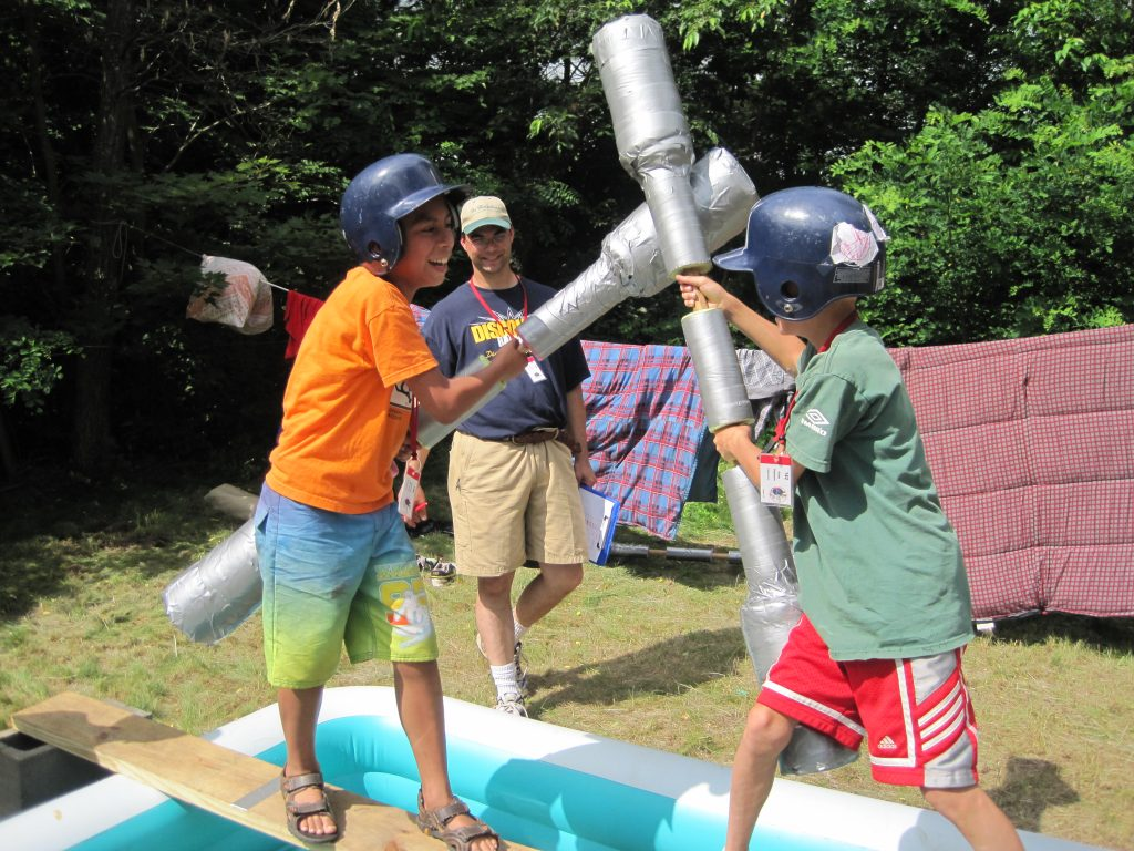 Jousting at the Rangers campgrounds